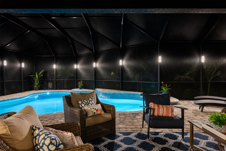 Sunset Lighting Design - LED Pool enclosure lighting